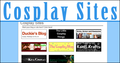 The cosplay sites section features Cosplay blogs e74ae5f1dcf5